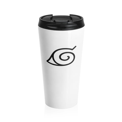 Naruto Konoha Ninja Symbol Stainless Steel Travel Mug - Game Geek Shop