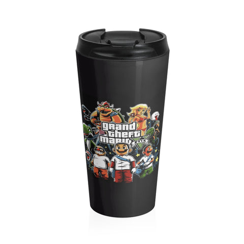 Super Mario Collab GTA Dope Stainless Steel Travel Mug - Game Geek Shop