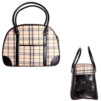 Milan Plaid Luxury Dog Carrier by Parisian Pet - Treat Your Dog Good