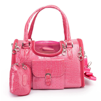 Parisian Pet Luxury Croc Dog Carrier - Pink - Treat Your Dog Good