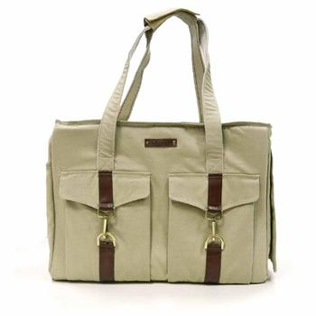 Buckle Pet Tote by Dogo - Beige - Treat Your Dog Good