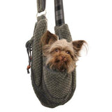 Gray Puppy Pouch Pet Sling - Treat Your Dog Good