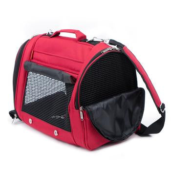 Prefer Pets Hideaway Backpack Dog Carrier - Burgundy - Treat Your Dog Good