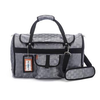 Prefer Pets Hideaway Duffel Dog Carrier - Silver Deluxe - Treat Your Dog Good