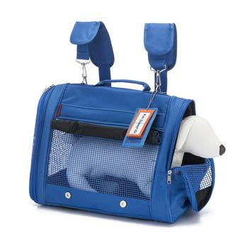 Prefer Pets Original Backpack Dog Carrier - Blue - Treat Your Dog Good