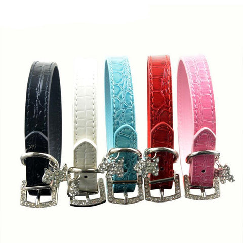 Neck Strap PU Leather Cat Pet Collar - Treat Your Dog Good