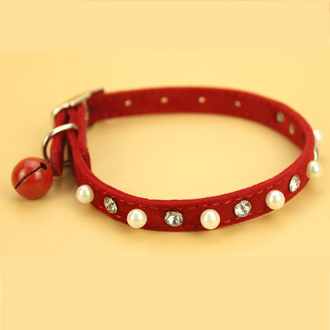 Cat Collar with Belt Soft Suede Leather - Treat Your Dog Good