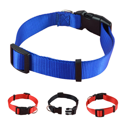 Red/Blue/Black Nylon Dog Collar - Treat Your Dog Good