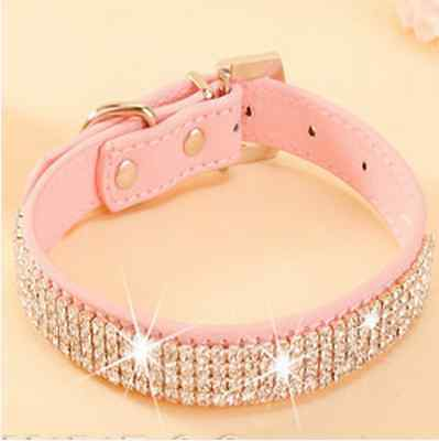BLING PU Leather Dog Collar - Treat Your Dog Good