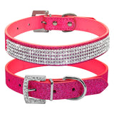 Rhinestone Leather  Dog Collars - Treat Your Dog Good
