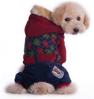 Plaid Warm Winter Dog Jacket - Treat Your Dog Good