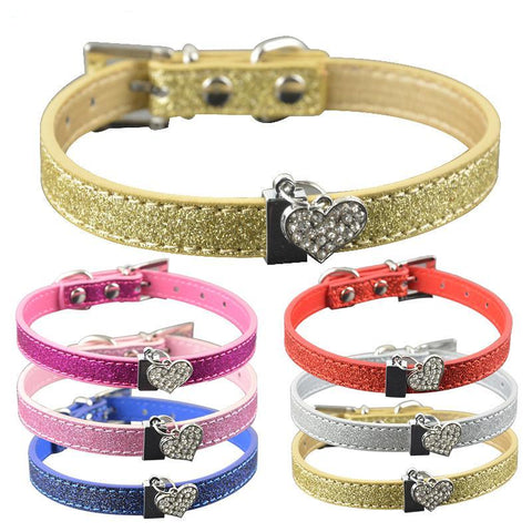 High Quality Bling Leather Cat Collar - Treat Your Dog Good