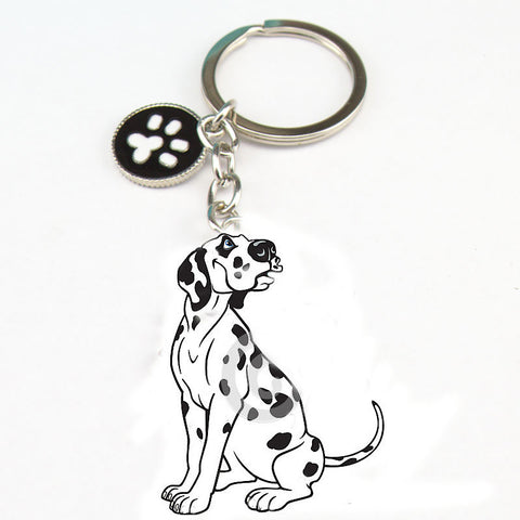 Woman&man Keychain tag key bag charm - Treat Your Dog Good