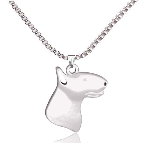 Dog Pendant Necklaces Silver Plated - Treat Your Dog Good