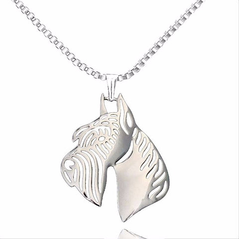 Dog Pendant Necklace Women Silver Plated - Treat Your Dog Good