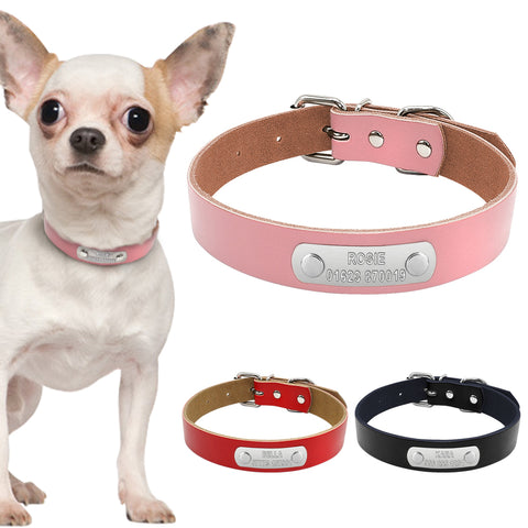 Leather Personalized Dog Collar - Treat Your Dog Good