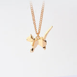 Dog Silhouette Pendant Necklace For Women - Treat Your Dog Good