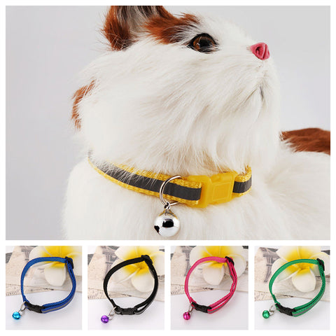 Safety Buckle Bell Strap Cat Collar - Treat Your Dog Good
