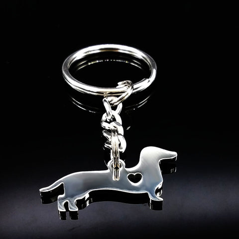 Dog Stainless Steel Keychain for Women - Treat Your Dog Good