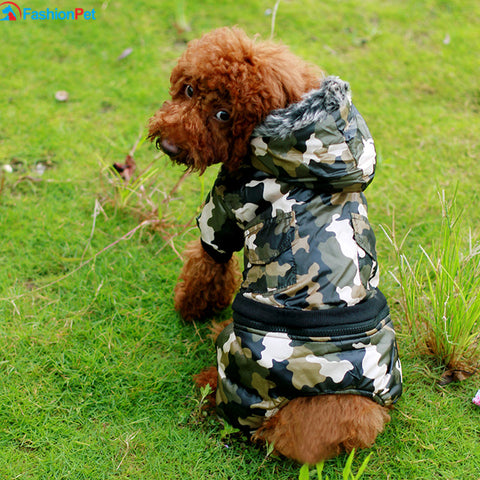 Camouflage Cotton US Army Waterproof Windbreaker - Treat Your Dog Good