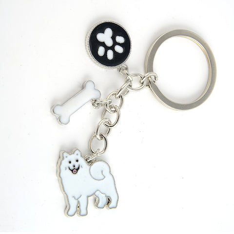 Samoyed charms key chains for women - Treat Your Dog Good