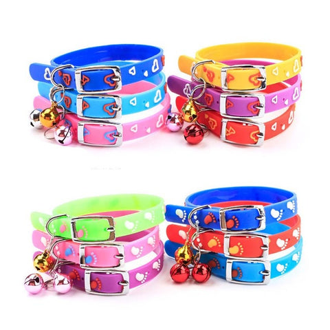 Colorful Soft Rubber Cat Collar With Bell - Treat Your Dog Good