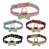 Cats Collars Rhinestone Bow - Treat Your Dog Good