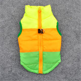 Colorful Winter Dog Puffer Vest - Treat Your Dog Good