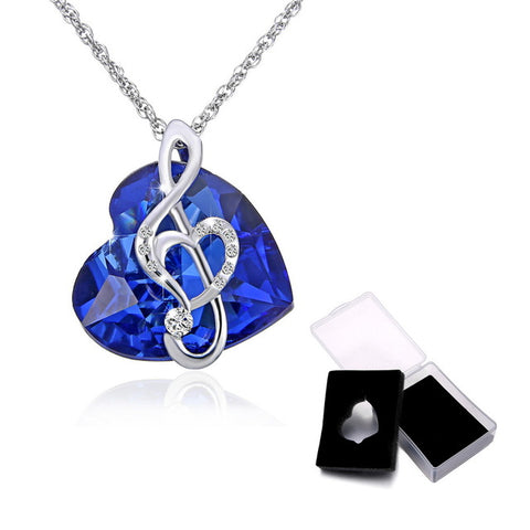 2018 New Fashion Music Note Ocean Heart Necklace - Treat Your Dog Good