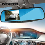Rearview Mirror Digital Video Recorder /  G-Sensor Night Vision Camcorder - Treat Your Dog Good