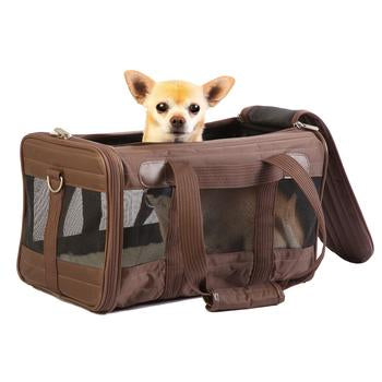Sherpa Travel Original Deluxe Dog Carrier - Brown - Treat Your Dog Good