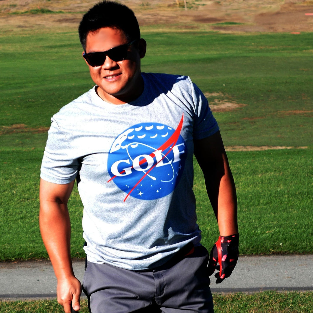Space Golf Performance T-Shirt