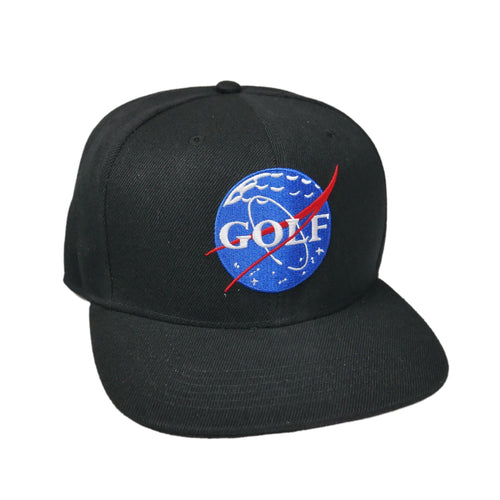 Space Golf Snapback Hat (Black)