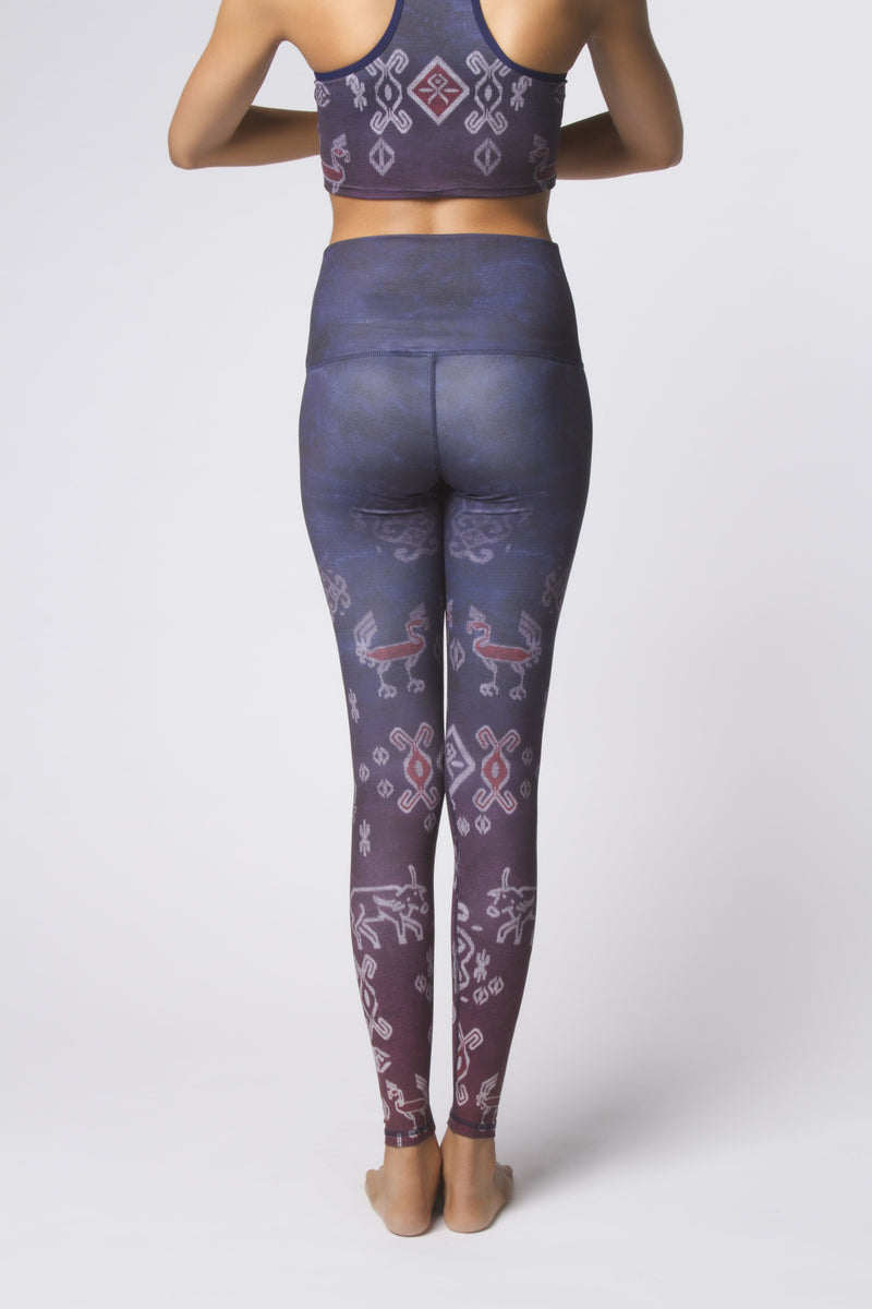 High Waist Legging Ikat Ombre