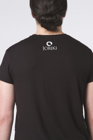 Mens Relaxed Fit V-Neck Tee Black