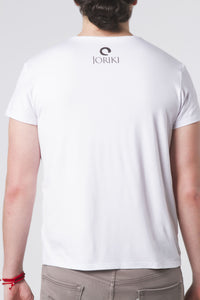 Mens Relaxed Fit V-Neck Tee White
