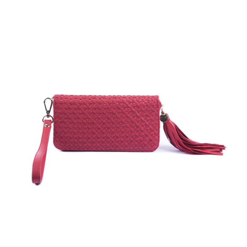 Nusa Long Wallet – Tomato Red