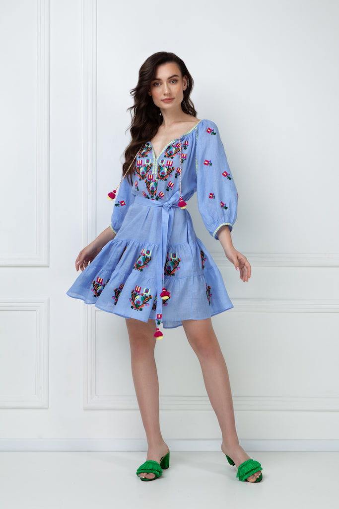 """Omelia Сhic"" blue Mini Dress"