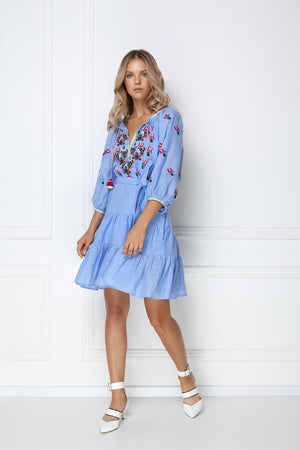 """Omelia"" blue Mini Dress"
