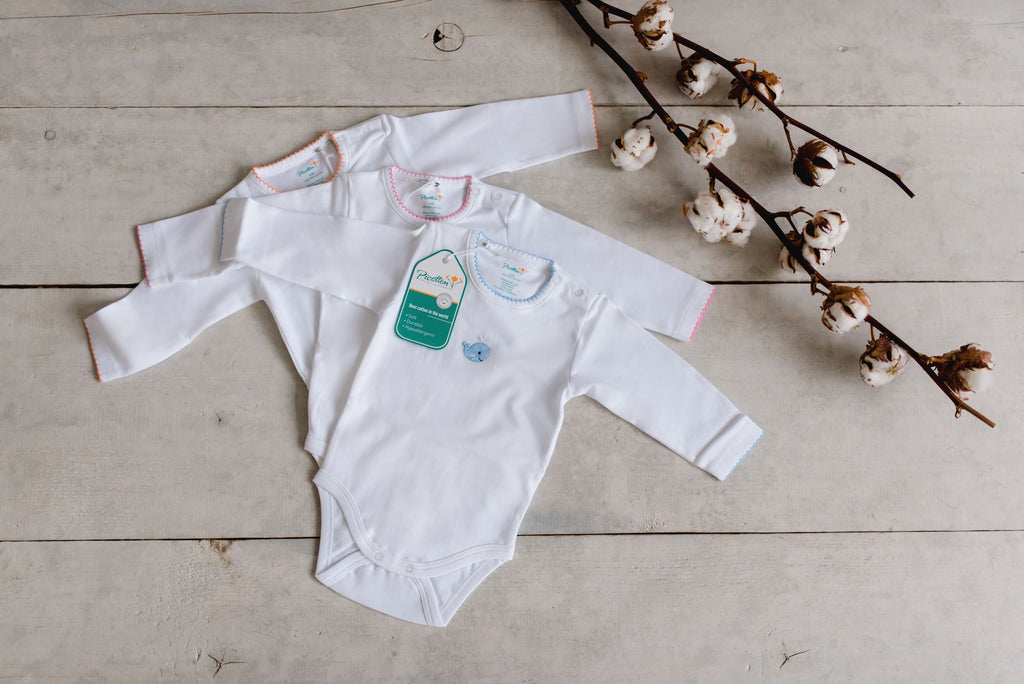 Set of 3 Bodysuits Long-Sleeved