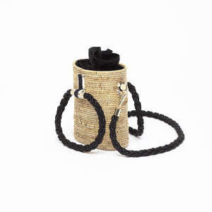 Weh Vegan Barrel Bag – Black