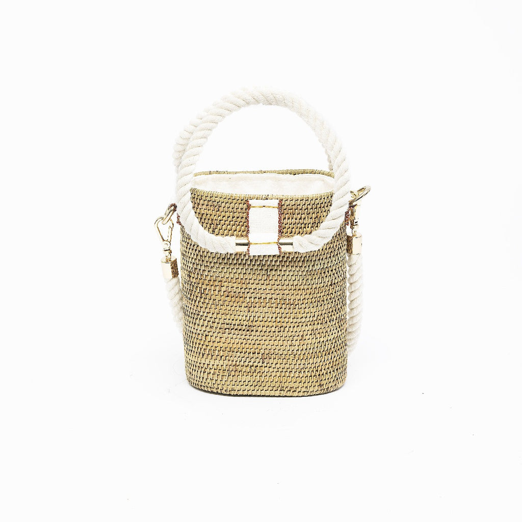 Weh Vegan Barrel Bag – Natural
