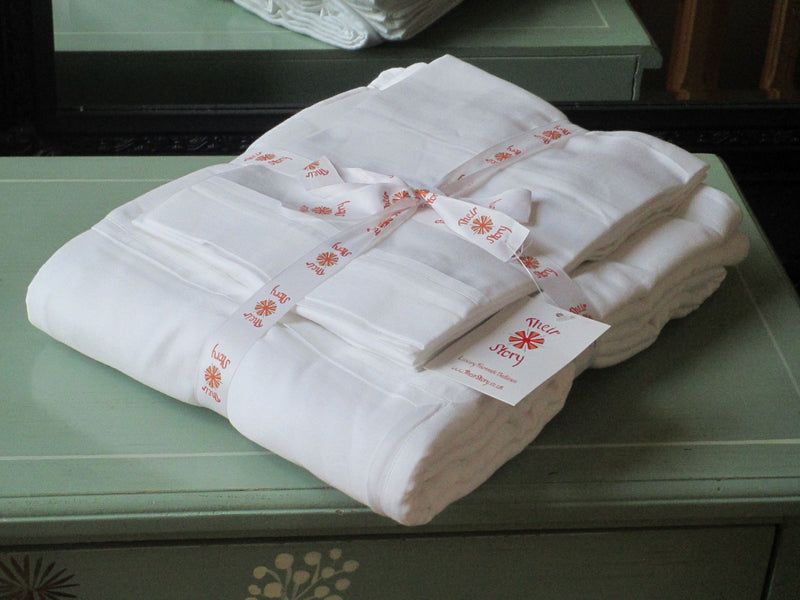 Duvet Cover Set Fair Trade Organic Boutique White Trim