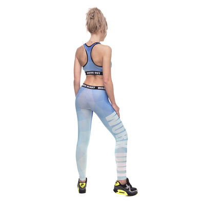 Legging fitness long Gradient - Lecsia