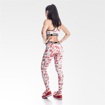 Legging fitness long Red - Lecsia