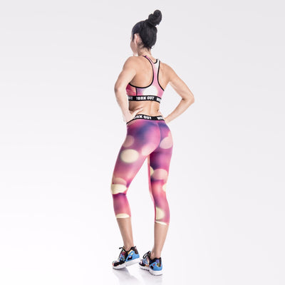 Legging fitness court Bokeh - Lecsia