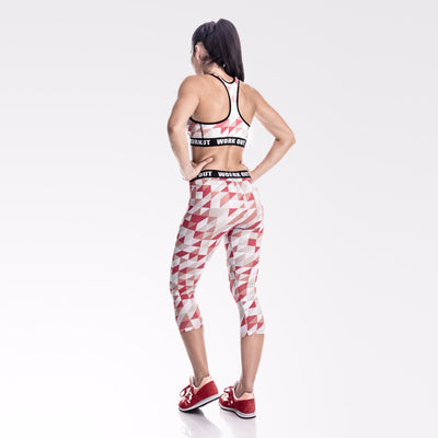 Legging fitness court Red - Lecsia