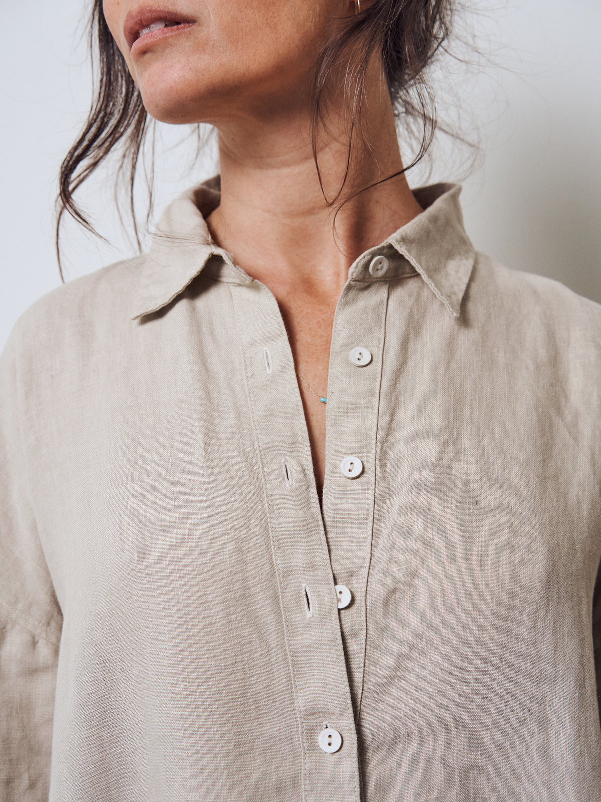 COCOON SHIRTDRESS | linen