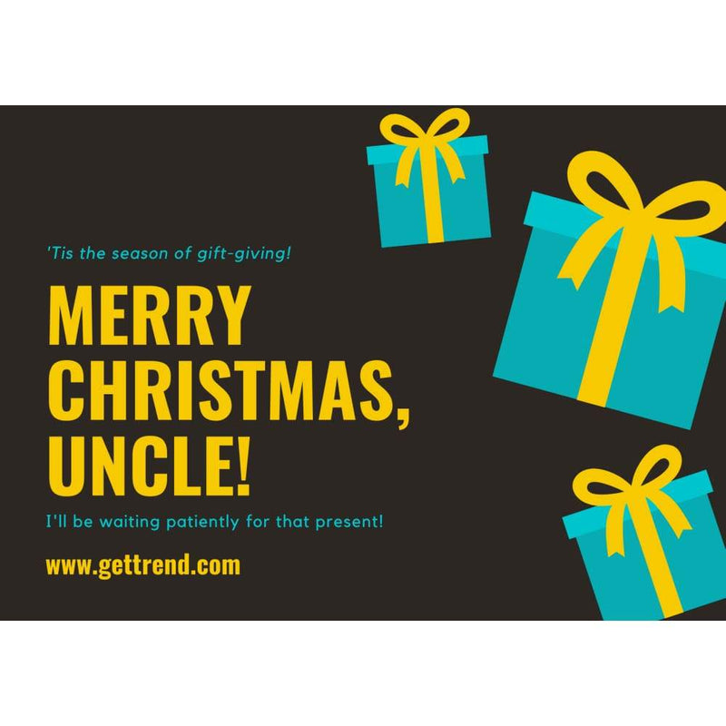 Gift Card - Merry Christmas Uncle £10.00 Gift Card For Only £7.50 - Save 25% Gift Card Get Trend £7.50 Save 25%