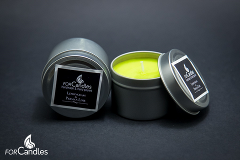 Handmade and hand poured, 100% soy candle with citrus lemongrass and lime. Lime green